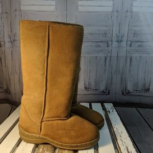Lamo winter snow women's boots shoes warm tan 6 br